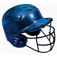All-Star BH6100FFG Batting Helmet with Faceguard and Mettalic Flakes (Navy)