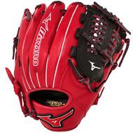 Mizuno GMVP1177PSE3 Baseball Glove 11.75 inch (Red-Black, Right Hand Throw)
