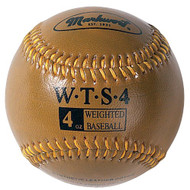 "Markwort Weighted 9"" Leather Covered Training Baseball (4 OZ)"