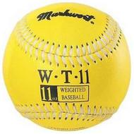 "Markwort Weighted 9"" Leather Covered Training Baseball (11 OZ)"
