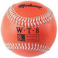 "Markwort Weighted 9"" Leather Covered Training Baseball (8 OZ)"