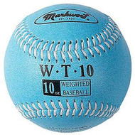 "Markwort Weighted 9"" Leather Covered Training Baseball (10 OZ)"