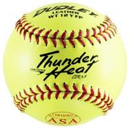 Dudley Thunder Heat Dual Stamp ASA-NFHS Fastpitch Softballs 47 Cor (1 dozen)