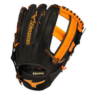 Mizuno GMVP1250PSES3 Prime SE Slowpitch Glove Black Orange Right Hand Throw