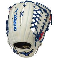 Mizuno MVP Prime SE Baseball Glove Silver Red Navy 12.75 Right Hand Throw