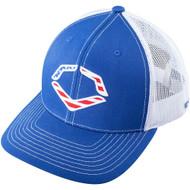 Wilson Sporting Goods Evoshield USA Snapback Trucker Hat Royal White