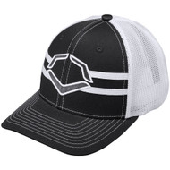 Wilson Sporting Goods Evoshield Grandstand Flexfit Hat Char coal White Large X-Large 7 3/8 - 7 5/8