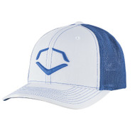 Wilson Sporting Goods Evoshield Royal Steed Stripe Mesh Flexfit Hat White Royal Large X-Large 7 3/8 - 7 5/8