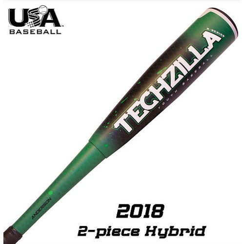 Anderson 2018 Techzilla S-Series -9 Hybrid Youth USA Baseball Bat 32 in 23 oz
