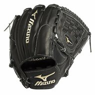 Mizuno GGE10VBK Global Elite VOP Baseball Fielder's Mitt (Black 12 nch) (Left Handed Throw)