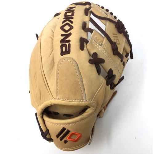 Nokona Alpha Select Series: S-100-I Tan Brown 10.5 Youth Baseball Glove Right Hand Throw