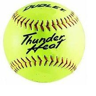"Dudley Thunder Heat 12"" ASA Fastpitch Softballs Composite Cover COR 47 Compression 375lbs 1 Doz"