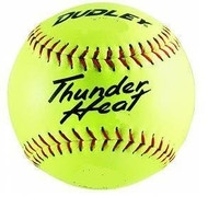 "Dudley Thunder Heat 12"" NFHS Fastpitch Softballs Composite Cover Core .47 Compression 375lbs 1 doz"