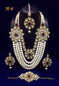Amazing Heavy Stone work Necklace Set1589