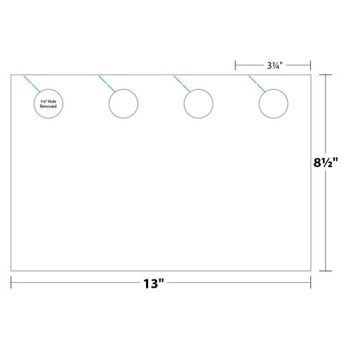 "3.25"" x 8.5"" Door Hanger on 8.5"" x 13"", 80 Lb. Smooth Cover, 1000/pack"