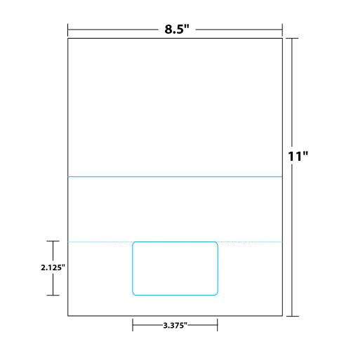 """8.5"""" x 11"""" Bi-Fold Sheet with One Integrated Card on 8.5"""" x 11"""", White 8 Mil. Synthetic Paper, 100 Sheets, 100 Cards/Pack"""