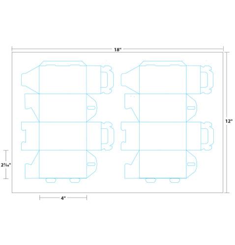"2.4"" x 2.4"" x 5"" Lift Off™ Tote Box on 12"" x 18"", White 100 Lb. Vellum, 100 Boxes/Pack"