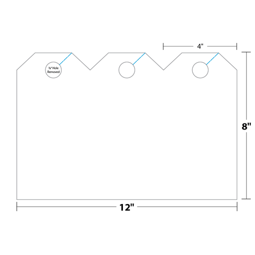 """4"""" x 8"""" Hang Tag on 8"""" x 12"""", 13 Pt. Tag Stock, 1000/pack"""