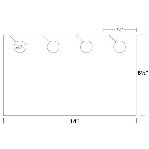 """3.5"""" x 8.5"""" Door Hanger on 8.5"""" x 14"""", 67 Lb. Bristol Cover, 1000/pack"""