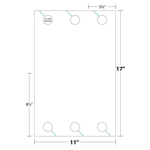 """3.67"""" x 8.5"""" Door Hanger on 11"""" x 17"""", 67 Lb. Bristol Cover, 1000/pack"""