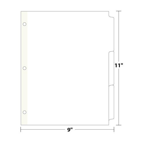 3-Bank Copytabs Tab Dividers, White 110 Lb. Index, 420 sets/pack