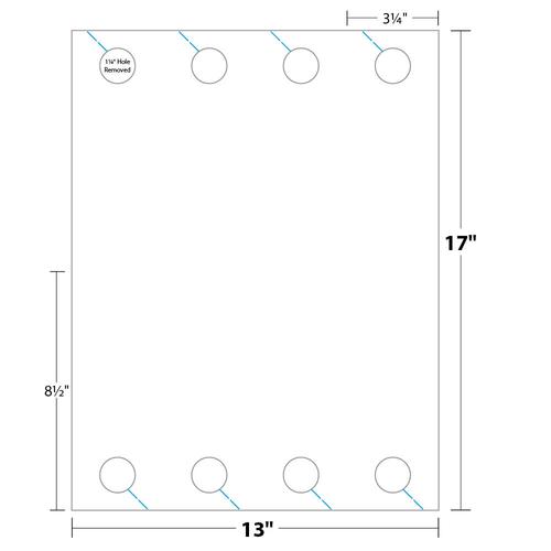 """3.25"""" x 8.5"""" Door Hanger on 13"""" x 17"""", 67 Lb. Bristol Cover, 1000/pack"""
