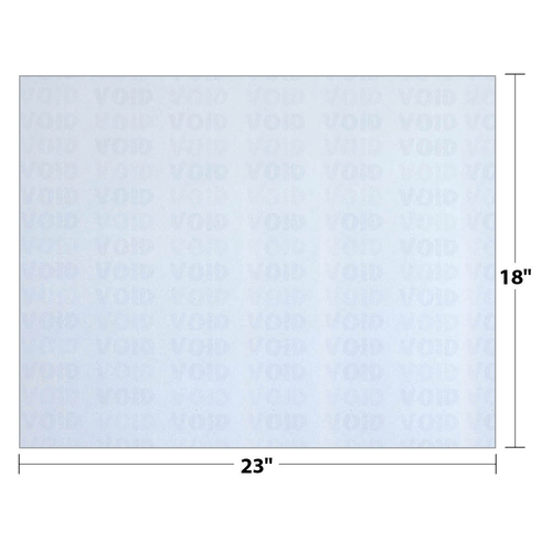 """18"""" x 23"""" Void K2 Security Paper with 12 Features, Blue 25 Lb. Bond, 250 Sheets/pack"""