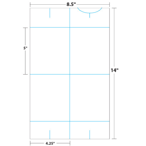 """4.25"""" x 5"""" Lift Off™ Table Tent on 8.5"""" x 14"""", White 100 Lb. Cover Copy, 50 Table Tents/Pack"""