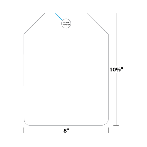 """8"""" x 10.875"""" Hang Tag on 8"""" x 10.875"""", 67 Lb. Bristol Cover, 500/pack"""