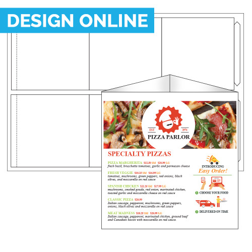 """5.5"""" x 5.5"""" x 5.5"""" Lift Off™ Table Talker on 12"""" x 18"""", White 14 Pt. Invercote, 100 Table Talkers/Pack"""