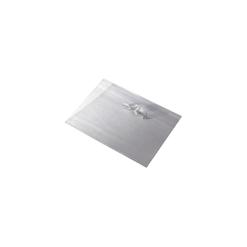 """3.5"""" x 2.25"""" Clear Plastic Name Badge Holder with Pin Back, 100 Holders/pack"""