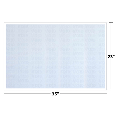"""23"""" x 35"""" Void K2 Security Paper with 12 Features, Blue 25 Lb. Bond, 250 Sheets/pack"""