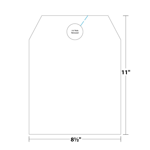 """8.5"""" x 11"""" Car Hang Tag on 8.5"""" x 11"""", 65 Lb. TimberLine Cover, 500 Car Hangers/pack"""