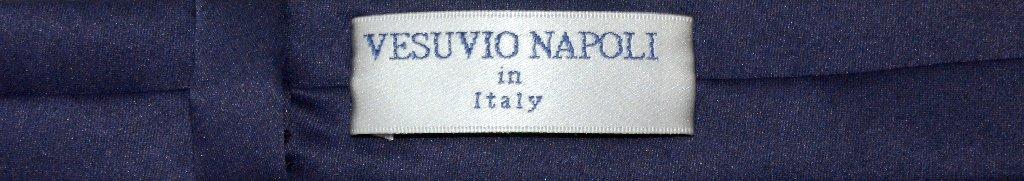 "Vesuvio Napoli Narrow NeckTie Extra Skinny NAVY BLUE Men's Thin 1.5"" Neck Tie"