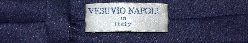 "Vesuvio Napoli Narrow NeckTie Extra Skinny NAVY BLUE Men's Thin 1.5"" Neck Tie"