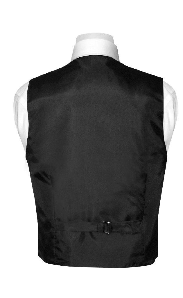 BOY'S Dress Vest & NeckTie Solid BLACK Color Neck Tie Set