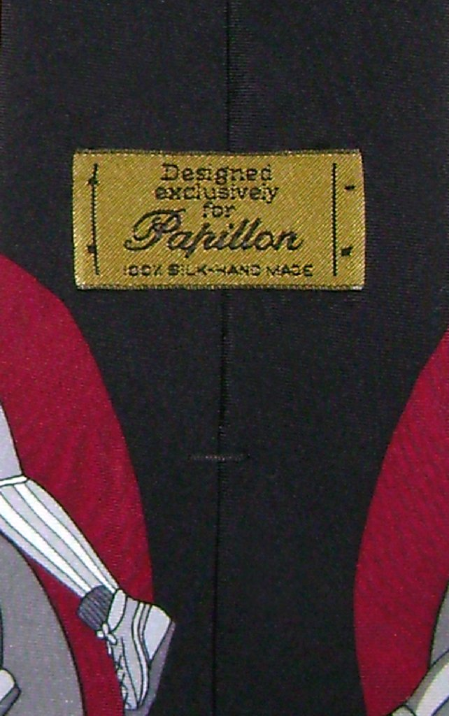 Papillon 100% SILK NeckTie Football Design Men's Neck Tie #124-3