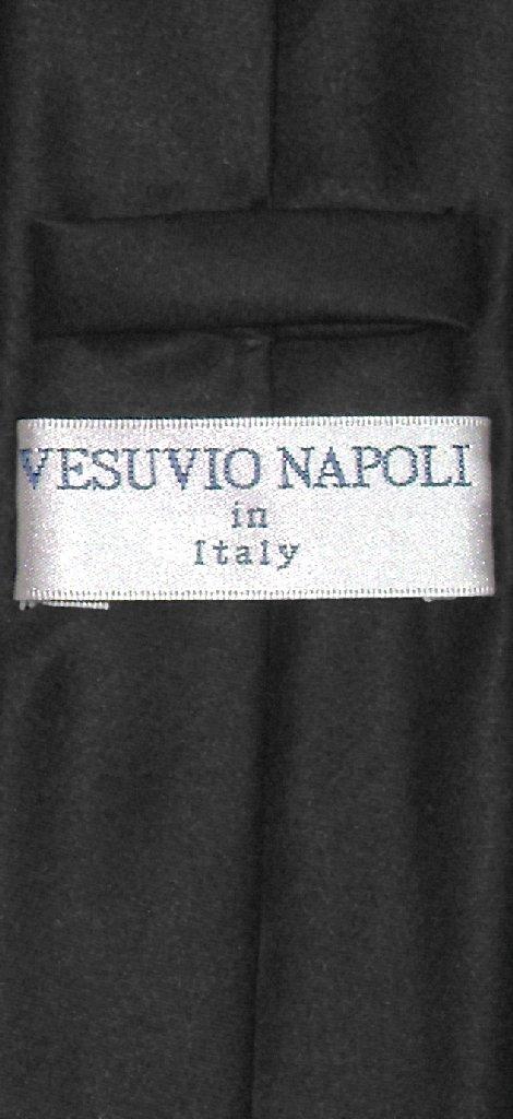 """Vesuvio Napoli Narrow NeckTie Skinny BLACK Color Men's Thin 2.5"""" Neck Tie"""