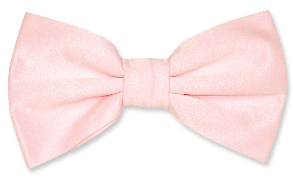 Vesuvio Napoli BOWTIE Solid PINK Color Men's Bow Tie for Tuxedo or Suit