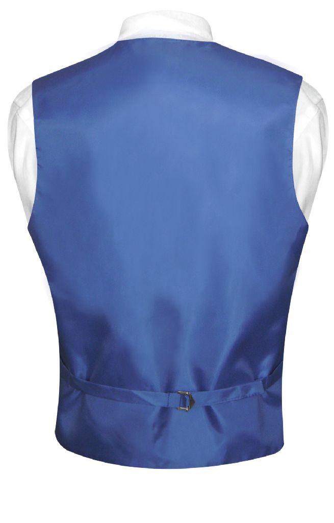 Men's Dress Vest & NeckTie Solid ROYAL BLUE Color Neck Tie Set for Suit or Tux