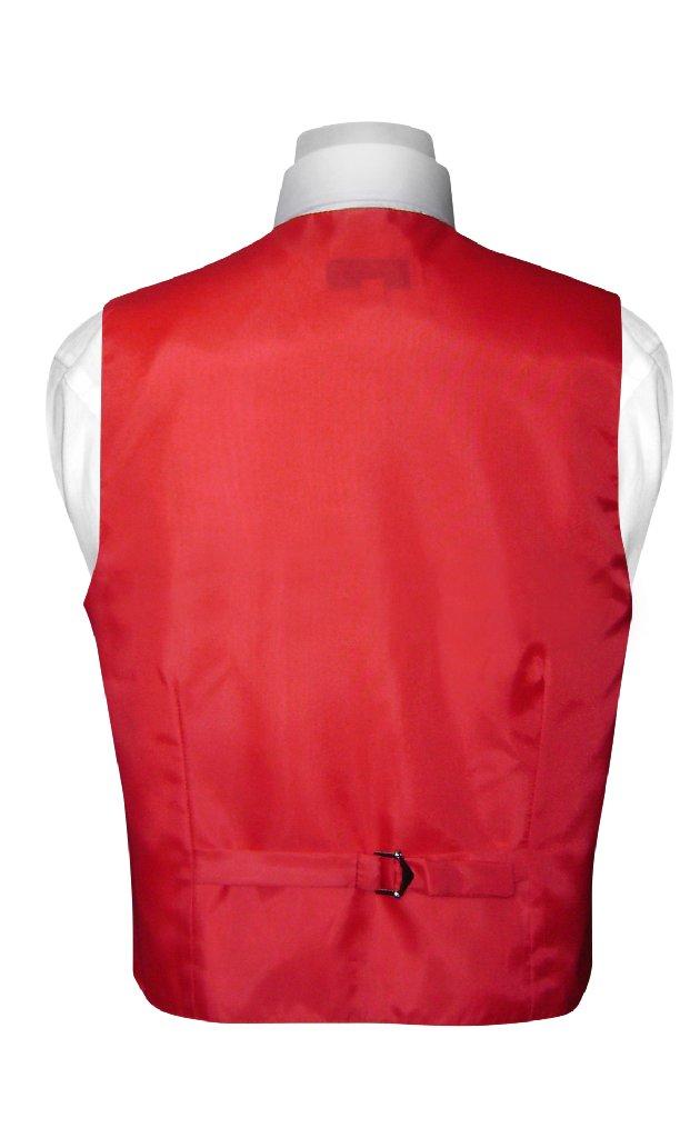 BOY'S Dress Vest & NeckTie Solid RED Color Neck Tie Set