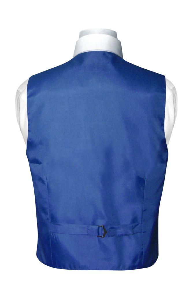 BOY'S Dress Vest & BOW TIE Solid ROYAL BLUE Color Bow Tie Set