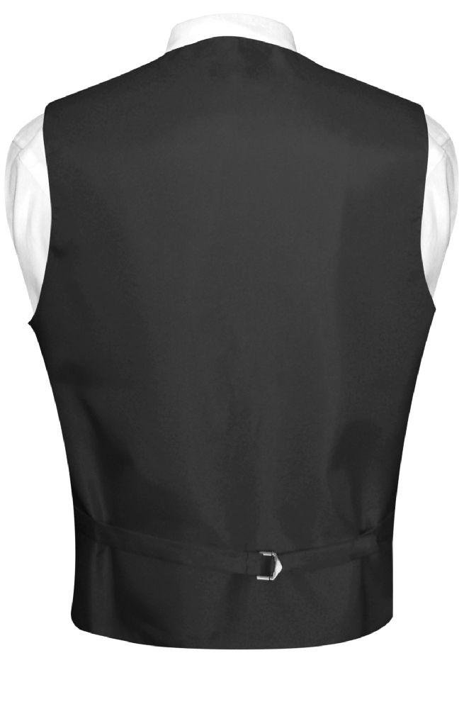 Men's Dress Vest & NeckTie Solid SILVER GRAY Neck Tie Set for Suit or Tuxedo
