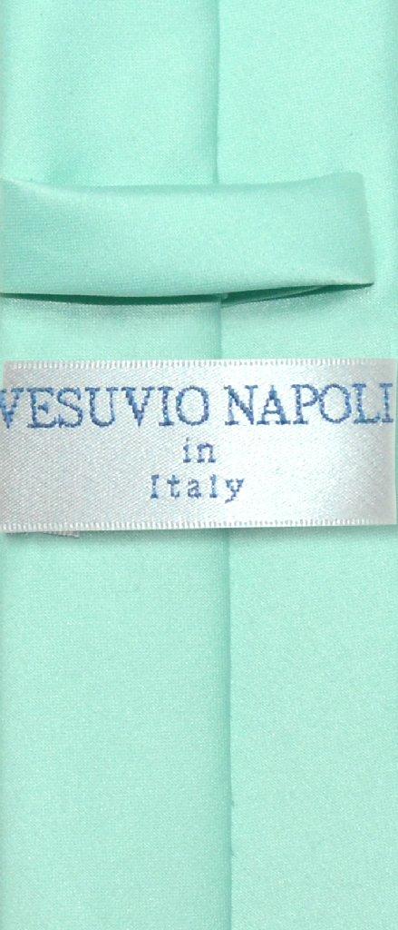 """Vesuvio Napoli Narrow NeckTie Skinny AQUA GREEN Color Men's Thin 2.5"""" Neck Tie"""
