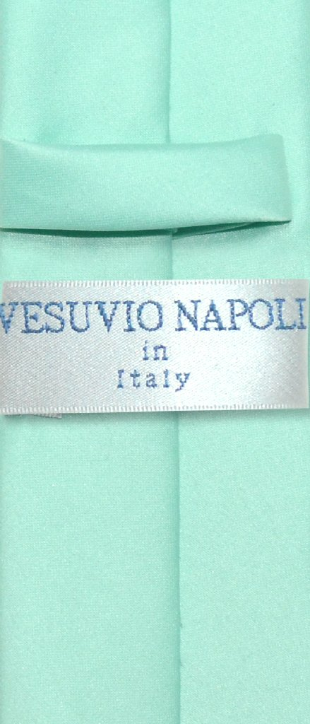 "Vesuvio Napoli Narrow NeckTie Skinny AQUA GREEN Color Men's Thin 2.5"" Neck Tie"