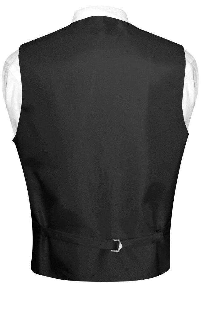 Men's Dress Vest & NeckTie Solid CHOCOLATE BROWN Color Neck Tie Set for Suit Tux
