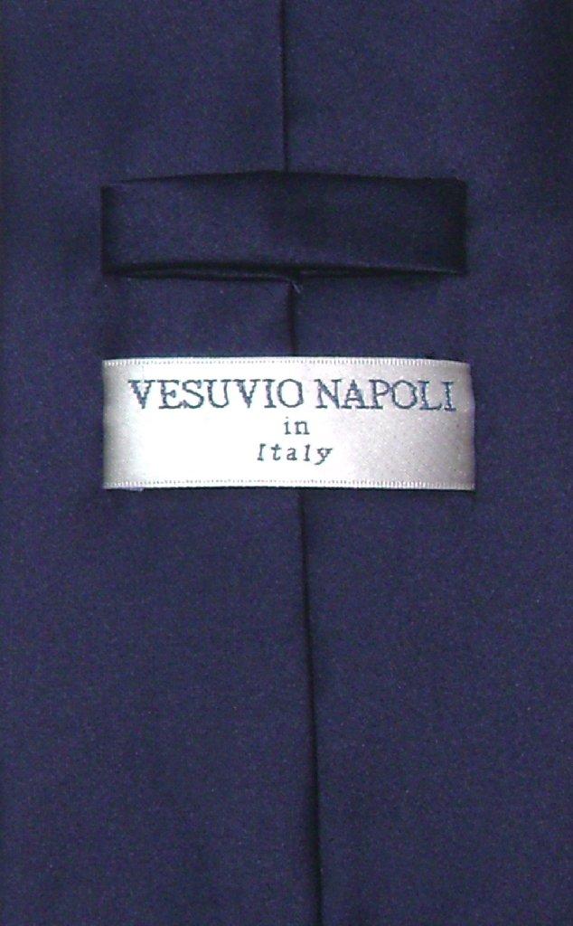 Vesuvio Napoli NeckTie Solid NAVY BLUE Color Men's Neck Tie