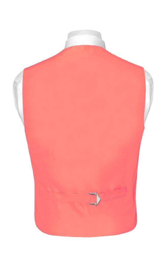 BOY'S Dress Vest & NeckTie Solid CORAL PINK Color Neck Tie Set