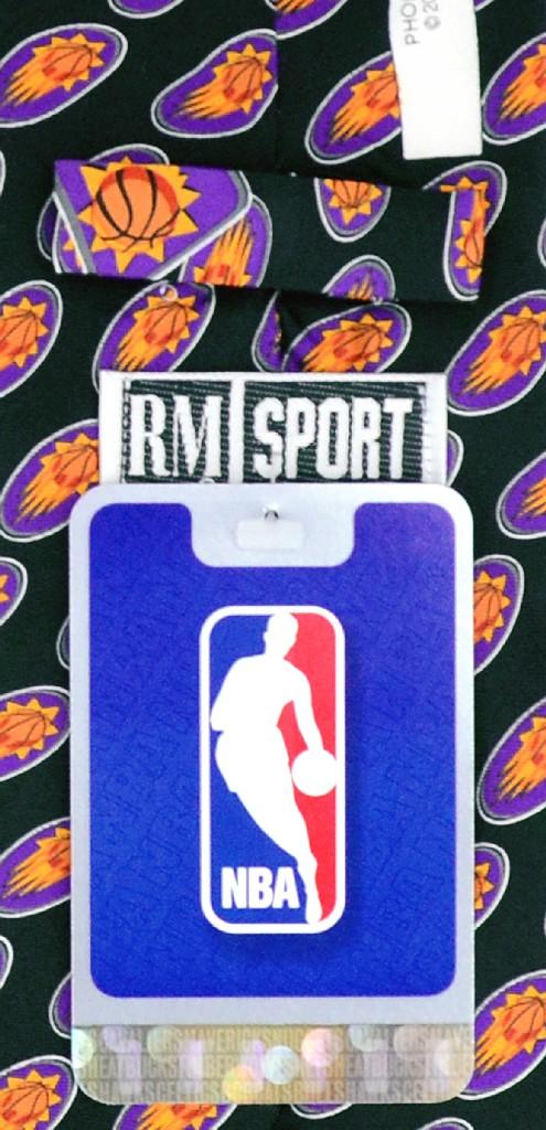 PHOENIX SUNS SILK NeckTie NBA Men's Logo Pattern Neck Tie
