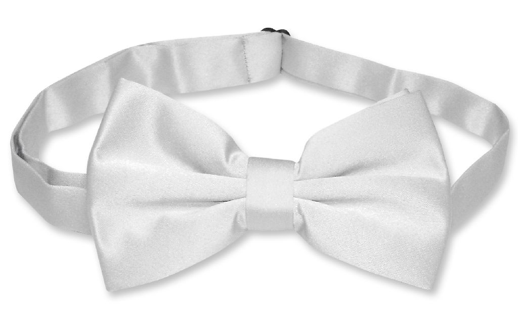 Mens SLIM FIT Dress Vest BowTie Solid SILVER GREY Color Bow Tie Handkerchief Set